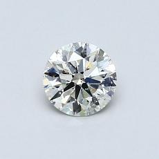 0.51 Carat 圓形 Diamond 理想 J SI2