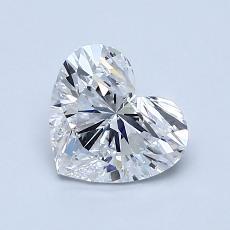 Pierre recommandée n°4: Diamant taille cœur 1,05carat