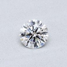 0.30 Carat 圆形 Diamond 理想 D VVS2