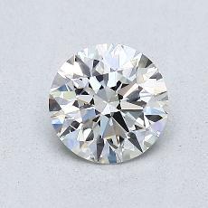 0,75-Carat Round Diamond Ideal H VVS2