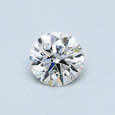 0,52 Carat Rond Diamond Idéale E VVS2