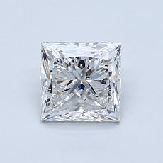 1.00-Carat Princess Diamond Very Good F SI2