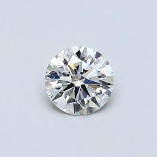 所選擇的鑽石: 0.42 克拉圓形切割鑽石