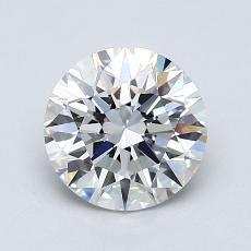 1.09-Carat Round Diamond Ideal F VVS2