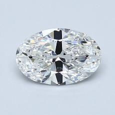 0.90-Carat Oval Diamond Very Good F VVS2