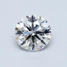 0,78-Carat Round Diamond Ideal E VVS1