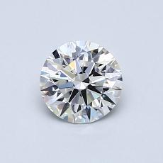 目标宝石:0.61克拉圆形切割钻石