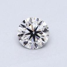 0.50-Carat Round Diamond Very Good E VVS2