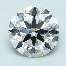 2.01 Carat Redondo Diamond Ideal I VVS2