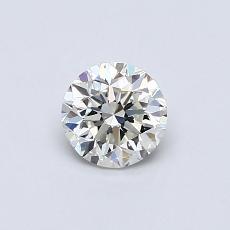0.50-Carat Round Diamond Good I VVS1