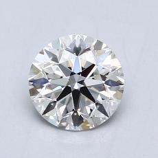 0.75-Carat Round Diamond Ideal F VS1