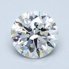 1.50-Carat Round Diamond Very Good D VVS1