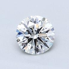 0.90-Carat Round Diamond Ideal E VVS2