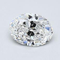 0.90-Carat Oval Diamond Very Good D SI1