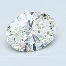 2.02 Carat 椭圆形 Diamond 非常好 I VVS1