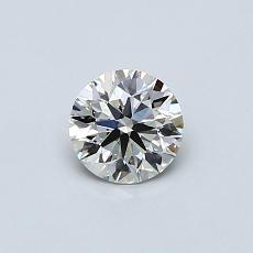 0.42-Carat Round Diamond Ideal J VS2