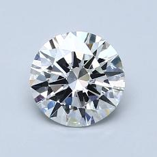 Pierre actuelle: Taille ronde, 1,00carats