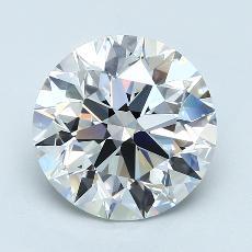 推荐宝石 1:3.41克拉圆形切割钻石