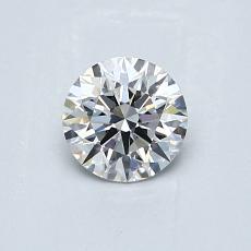 0.53 Carat 圆形 Diamond 理想 E VS1