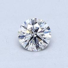0.50-Carat Round Diamond Ideal D VVS2