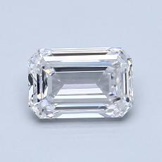 0,94-Carat Emerald Diamond Very Good D VS1