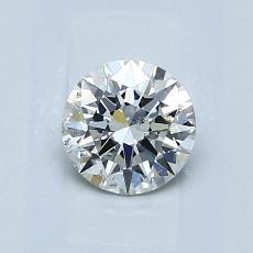 0,70 Carat Rond Diamond Idéale I SI2
