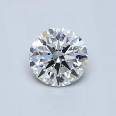 0.61-Carat Round Diamond Ideal G VS1