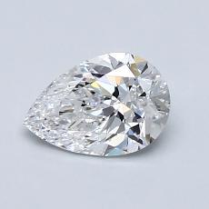 0.80 Carat 梨形 Diamond 非常好 D VS1