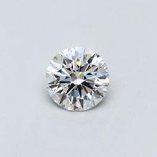 0.50-Carat Round Diamond Ideal D SI1