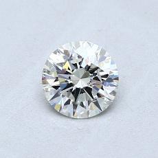 0.50-Carat Round Diamond Ideal J SI2