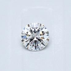 0.30-Carat Round Diamond Ideal D VS2