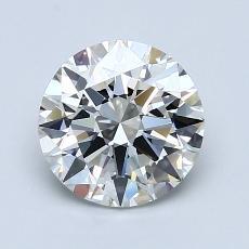 1.50-Carat Round Diamond Ideal H VVS2