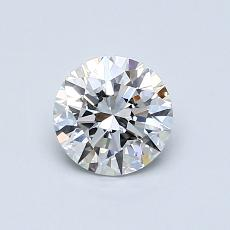 0,70 Carat Rond Diamond Idéale D IF