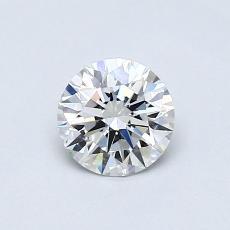 0.51-Carat Round Diamond Ideal E IF
