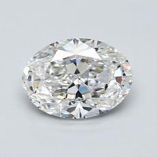 1.01-Carat Oval Diamond Very Good F VVS1