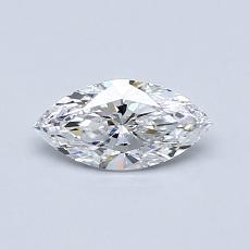 0,40-Carat Marquise Diamond Very Good D IF