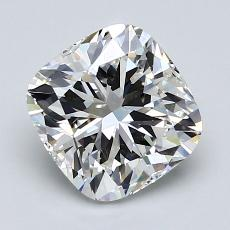 2.01-Carat Cushion Diamond Very Good H VVS2