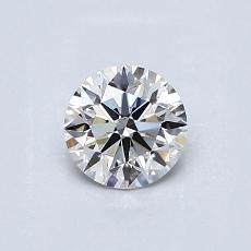 0.52-Carat Round Diamond Ideal H VS1