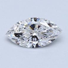 0.90-Carat Marquise Diamond Very Good D SI2