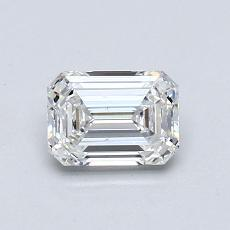 0.76-Carat Emerald Diamond Very Good F VS2