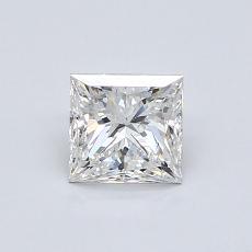0.71 Carat 公主方形 Diamond 非常好 F SI1