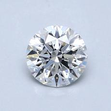 0.70-Carat Round Diamond Ideal D SI1