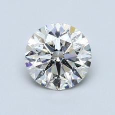 1.00 Carat 圆形 Diamond 理想 J SI2