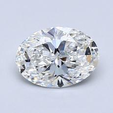 1.00-Carat Oval Diamond Very Good F IF