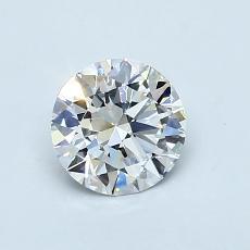 推荐宝石 4:0.75 克拉圆形切割