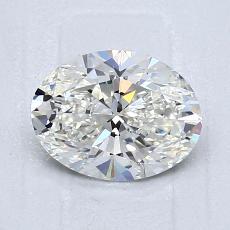 推薦鑽石 #1: 1.06  克拉橢圓形切割