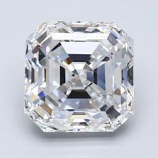Piedra recomendada 1: Diamante de talla Asscher de 2.01 quilates