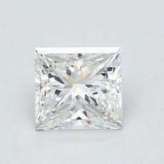 推荐宝石 1:1.02 克拉公主方型切割