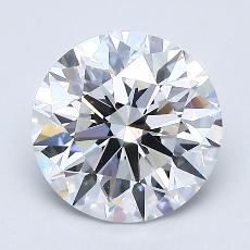 Pierre recommandée n°4: Diamant taille ronde 1,70 carat