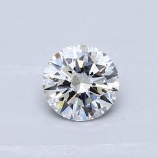 推荐宝石 1:0.43克拉圆形切割钻石